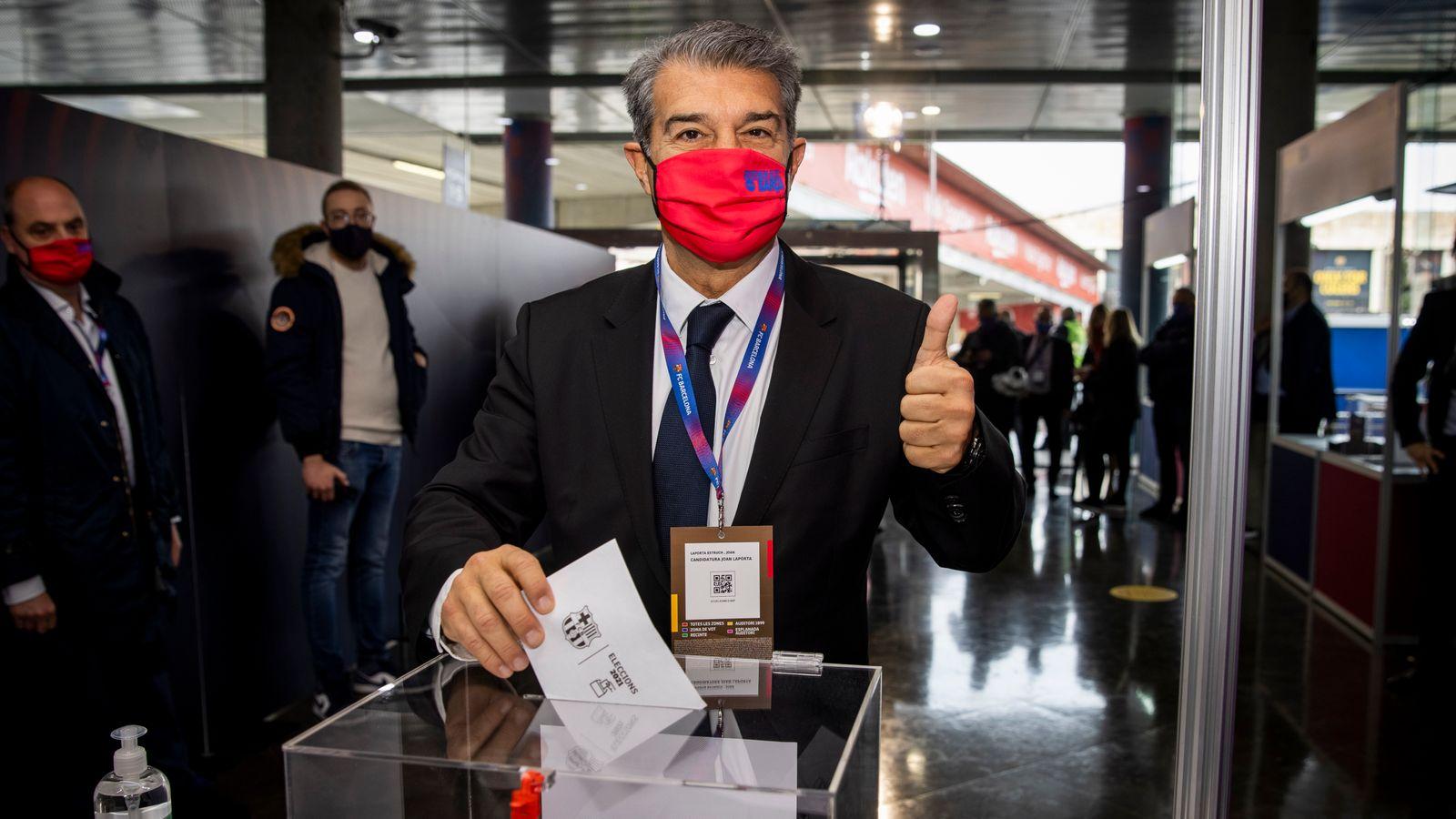 Joan Laporta wins Barcelona presidential election until 2026