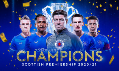 Rangers seals 55th Scottish League title in 2020/2021 season