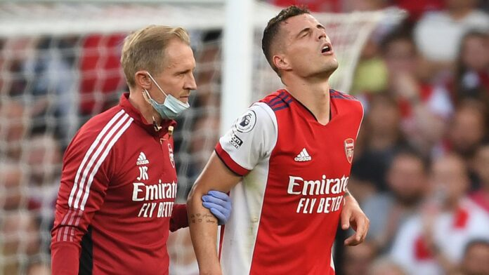 Granit Xhaka out for 3 months with Knee Injury